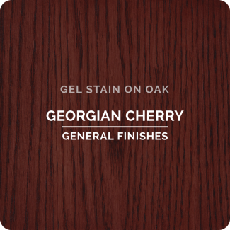 General Finishes Oil Based Gel Stain - Georgian Cherry (ON OAK)