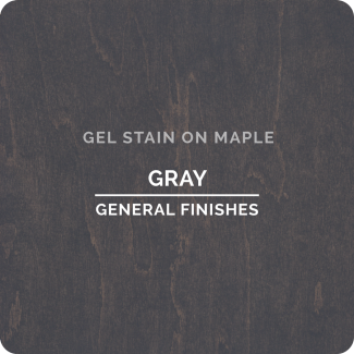 General Finishes Oil Based Gel Stain - Gray (ON MAPLE)