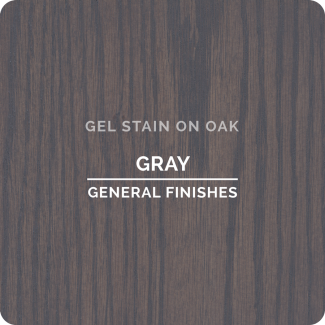 General Finishes Oil Based Gel Stain - Gray (ON OAK)