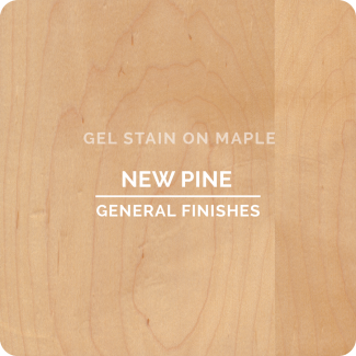 General Finishes New Pine Gel Stain on Maple