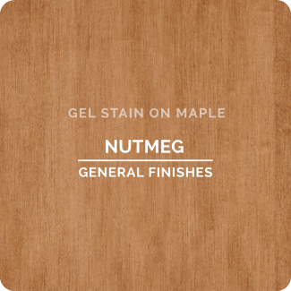 General Finishes Oil Based Gel Stain - Nutmeg (ON MAPLE)
