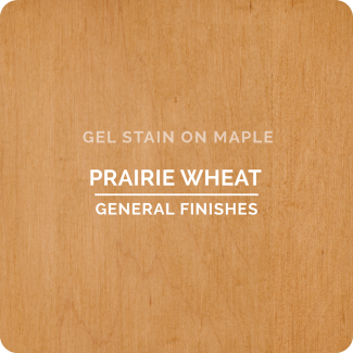 General Finishes Prairie Wheat Gel Stain on Maple