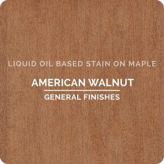 General Finishes Oil Based Liquid Wood Stain - American Walnut (ON MAPLE)