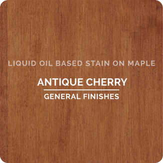 General Finishes Oil Based Liquid Wood Stain - Antique Cherry (ON MAPLE)