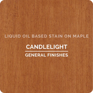 General Finishes Oil Based Liquid Wood Stain - Candlelight (ON MAPLE)