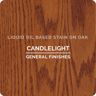 General Finishes Oil Based Liquid Wood Stain - Candlelight (ON OAK)