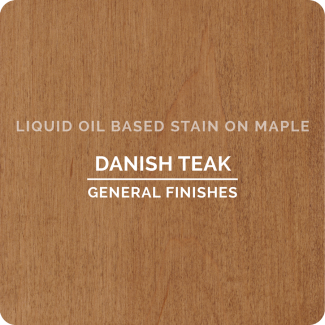 General Finishes Oil Based Liquid Wood Stain - Danish Teak (ON MAPLE)