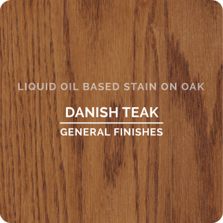 General Finishes Oil Based Liquid Wood Stain - Danish Teak (ON OAK)