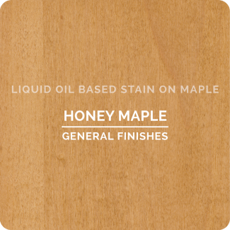 General Finishes Oil Based Liquid Wood Stain - Honey Maple (ON MAPLE)