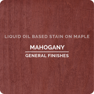 General Finishes Oil Based Liquid Wood Stain - Mahogany (ON MAPLE)