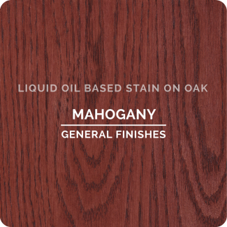 General Finishes Oil Based Liquid Wood Stain - Mahogany (ON OAK)