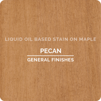 General Finishes Oil Based Liquid Wood Stain - Pecan (ON MAPLE)