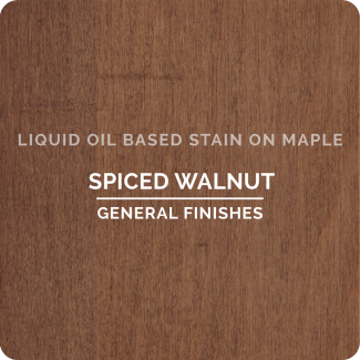 General Finishes Oil Based Liquid Wood Stain - Spiced Walnut (ON MAPLE)