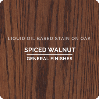 General Finishes Oil Based Liquid Wood Stain - Spiced Walnut (ON OAK)