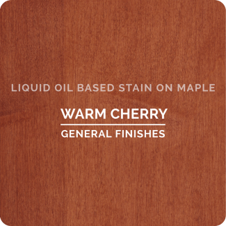General Finishes Oil Based Liquid Wood Stain - Warm Cherry (ON MAPLE)
