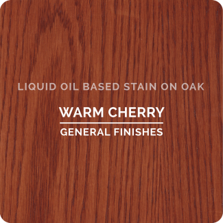 General Finishes Oil Based Liquid Wood Stain - Warm Cherry (ON OAK)
