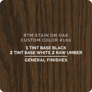 General Finishes RTM Wood Stain Custom Color Color - #100 (ON OAK)