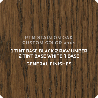 General Finishes RTM Wood Stain Custom Color Color - #101 (ON OAK)