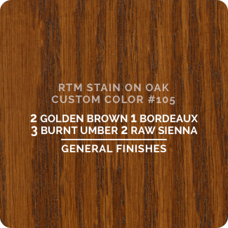 General Finishes RTM Wood Stain Custom Color Color - #105 (ON OAK)