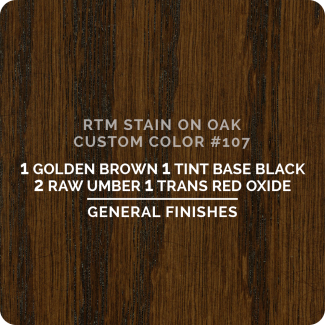 General Finishes RTM Wood Stain Custom Color Color - #107 (ON OAK)