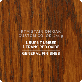 General Finishes RTM Wood Stain Custom Color Color - #109 (ON OAK)