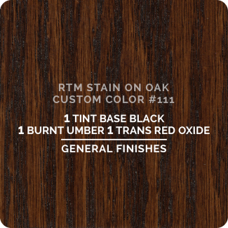General Finishes RTM Wood Stain Custom Color Color - #111 (ON OAK)