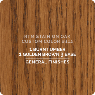 General Finishes RTM Wood Stain Custom Color Color - #112 (ON OAK)