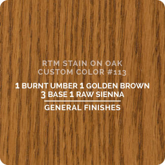 General Finishes RTM Wood Stain Custom Color Color - #113 (ON OAK)