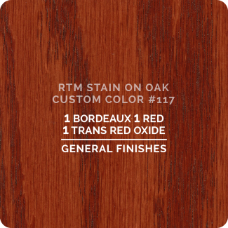 General Finishes RTM Wood Stain Custom Color Color - #117 (ON OAK)