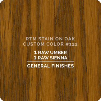 General Finishes RTM Wood Stain Custom Color Color - #122 (ON OAK)