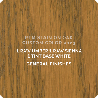 General Finishes RTM Wood Stain Custom Color Color - #123 (ON OAK)