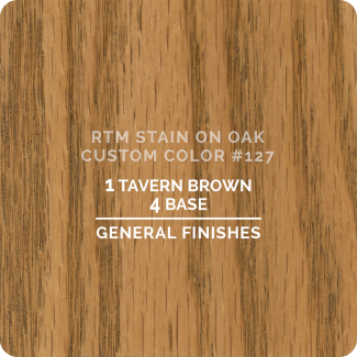 General Finishes RTM Wood Stain Custom Color Color - #127 (ON OAK)