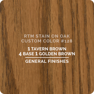 General Finishes RTM Wood Stain Custom Color Color - #128 (ON OAK)