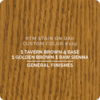 General Finishes RTM Wood Stain Custom Color Color - #129 (ON OAK)