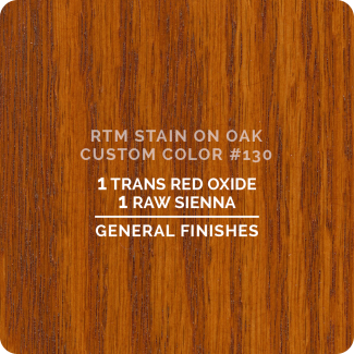 General Finishes RTM Wood Stain Custom Color Color - #130 (ON OAK)