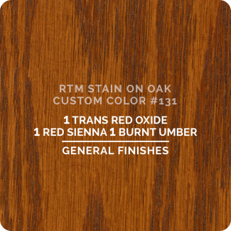 General Finishes RTM Wood Stain Custom Color Color - #131 (ON OAK)