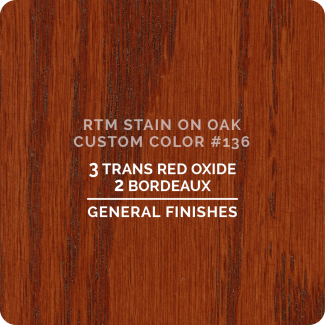 General Finishes RTM Wood Stain Custom Color Color - #136 (ON OAK)