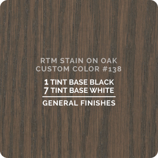 General Finishes RTM Wood Stain Custom Color Color - #138 (ON OAK)