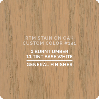 General Finishes RTM Wood Stain Custom Color Color - #141 (ON OAK)
