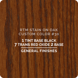 General Finishes RTM Wood Stain Custom Color Color - #30 (ON OAK)