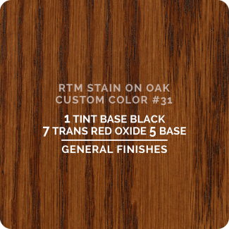 General Finishes RTM Wood Stain Custom Color Color - #31 (ON OAK)