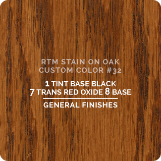 General Finishes RTM Wood Stain Custom Color Color - #32 (ON OAK)