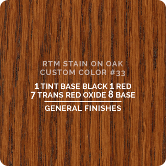 General Finishes RTM Wood Stain Custom Color Color - #33 (ON OAK)