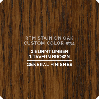 General Finishes RTM Wood Stain Custom Color Color - #34 (ON OAK)