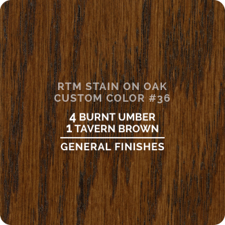 General Finishes RTM Wood Stain Custom Color Color - #36 (ON OAK)