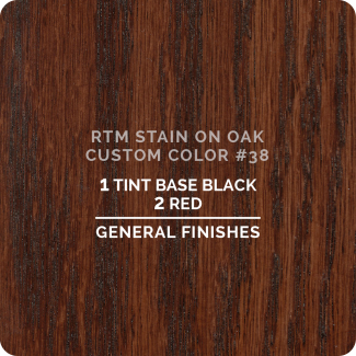 General Finishes RTM Wood Stain Custom Color Color - #38 (ON OAK)