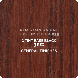 General Finishes RTM Wood Stain Custom Color Color - #39 (ON OAK)