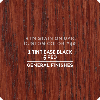General Finishes RTM Wood Stain Custom Color Color - #40 (ON OAK)