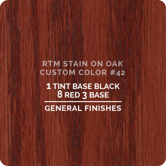 General Finishes RTM Wood Stain Custom Color Color - #42 (ON OAK)