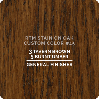 General Finishes RTM Wood Stain Custom Color Color - #45 (ON OAK)